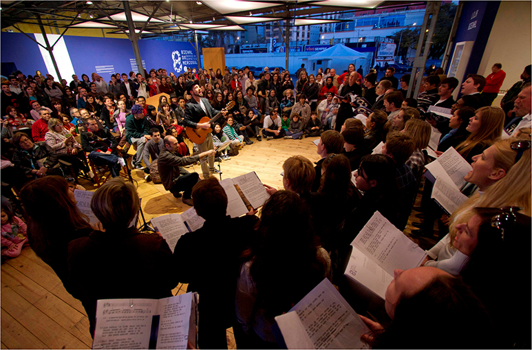 Performance: Complaints Choir, Biennial opening, Porto Alegre