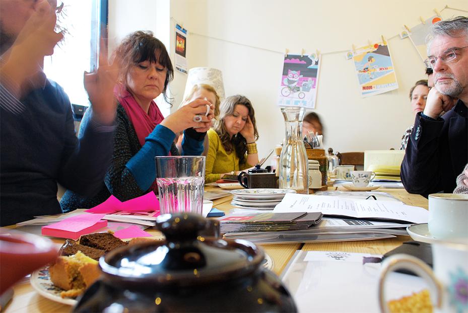 Charette de ideias com  IOTA no Velocity Café - Inverness, Escócia