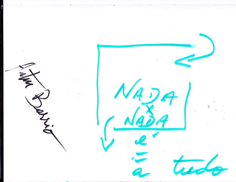 NADA x NADA é = a TUDO, pelo artista Artur Barrio, em visita à exposição Hélio Oiticica: Museu é o Mundo